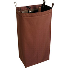 "Housekeeping Cart Polyester Replacement Bag Brown 30""H"