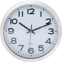 "10"" Metal Wall Clock Silver"