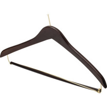 "17 x 1/2"" Ball Top Male Hanger Dark Wood Package Of 100"