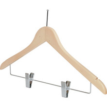 "18 x 1/2"" Ball Top Female Hanger Natural Wood Package Of 100"