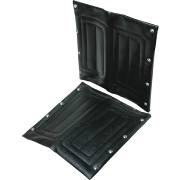 "Replacement Wheelchair Seat Invacare 18""W Vinyl Black"