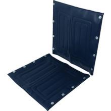 "Replacement Wheelchair Seat Invacare 18""W Vinyl Inva Blue"