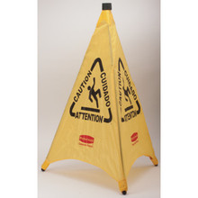 "Rubbermaid 30"" Pop-Up Safety Cone, Yellow"