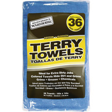 "Maintenance Warehouse 14 x 17"" Terry Cloth Cleaning Towel, Blue Box Of 36"