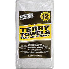 "Maintenance Warehouse 16 x 19"" Terry Cloth Cleaning Towel Package Of 12"