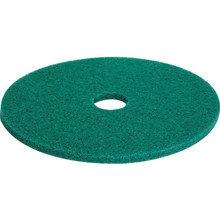 "17"" Green Scrubbing Floor Pad Box Of 5"