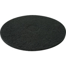 "Floor Pad Heavy Duty 17"" Diameter Black Box Of 5"