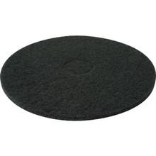 "Floor Pad Heavy Duty 17"" Diameter Black Box Of 5"