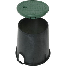 Round irrigation Valve Box 6""