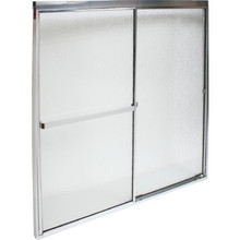 "MAAX By-Pass Shower Door Rain Textured Glass Deluxe 68H x 57 To 59""W"
