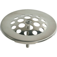 "Tub Drain Strainer Domed Hole Pattern 2-7/8"" Brushed Nickel"
