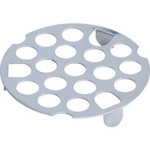"Tub Drain Strainer Flat Hole Pattern 1-7/8"" Stainless Steel Package of 10"