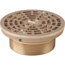 "Commercial Floor Drain Assembly With Strainer Cover 3"" Threaded Shank"
