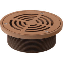 "Commercial Floor Drain Assembly With Strainer Cover 4"" Threaded Shank"