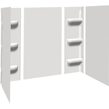 Seasons Anchor Point Bathtub Wall Surround Five-Piece Glue-Up White ABS - 59H x 28-32D x 48-60W