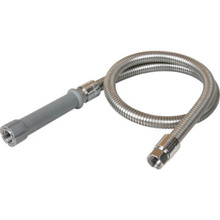 "T&S 68"" Pre-Rinse Spray Hose Stainless Steel Flexible"