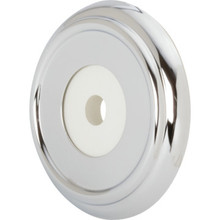 "3-5/8"" Chrome Tub Escutcheon With Water Seal"