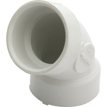 PVC DWV Schedule 40 1/8 Bend Elbow 1-1/2""