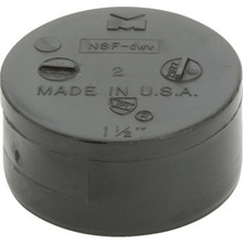 ABS DWV Schedule 40 Cap Socket 1-1/2""
