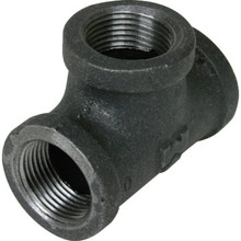 "Black Malleable Tee 1/2"" x 1/2"" x 1/2"""