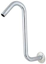 "Chrome Plated Brass Shower Arm 1/2 X 11"" S-Shaped"