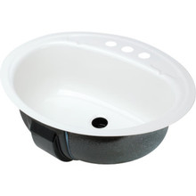 "Bootz 16 X 19"" Oval Lavatory Sink White Porcelain Steel"