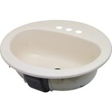 "Bootz 19"" Round Lavatory Sink Bone Porcelain Steel"