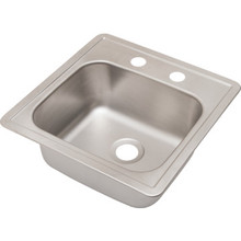"Aspen Single Bowl Bar Sink Stainless Steel 2 Hole 5-1/2"" Depth"