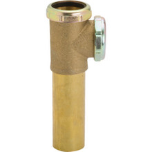 "Brass Tubular Coupling Disposer Tee End Outlet 1-1/2"" Slip Joint 20-Gauge"