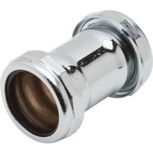 """Brass Tubular Coupling Straight 1-1/2"""" Slip Joint 22-Gauge"""