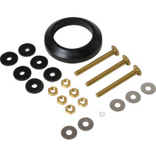 "Tank To Bowl Gasket and Hardware Kit 2"" Flush Valve Solid Brass Bolts Mansfield"