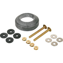 "Tank To Bowl Gasket and Hardware Kit, 2"" Flush Valve Brass Bolts and Nuts A/S"