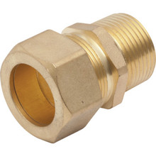 """Compression Brass Water Heater Fitting 3/4"""" MIP x 7/8"""" Connects 3/4"""" Pipe"""