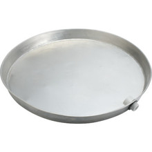 """Water Heater Pan With Fittings 22"""" Aluminum"""