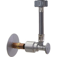 "ACCOR FlowTite R-Series Supply Stop Valve With 12"" Braided Toilet Connector"