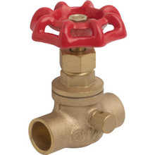"Maintenance Warehouse Brass Stop W/Waste Valve 1/2 "" Sweat x Sweat"