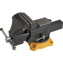 "6"" Heavy-Duty Bench Vise With Swivel Base"
