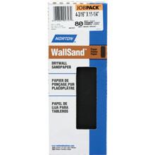 "Norton 4-3/16 x 11"" WallSand Drywall Die-Cut Sanding Sheets Package Of 25"
