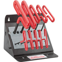 "Eklind 10-Piece 6"" T-Handle Hex Wrenches"