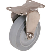 "Shepherd 4"" Gray Non-Marking Rubber Rigid Caster"