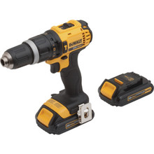 "DeWalt 1/2"" 20 Volt MAX Compact Cordless Lithium-Ion Hammer Drill/Driver Kit"