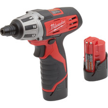 "Milwaukee 1/4"" M12 Cordless Lithium-Ion Screwdriver"