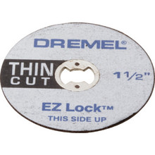 "Dremel EZ Lock 1-1/2"" Thin Cut-Off Wheels 5/Pk"