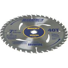 "Irwin 7-1/4"" 40-Tooth Marathon Carbide Tipped Blade"