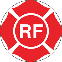 "8 X 8"" ""RF"" Truss Marking Adhesive Decal"