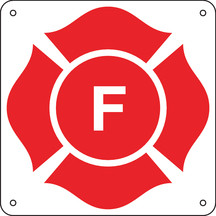"8.5 X 8.5"" Aluminum ""F"" Truss Marking Sign"