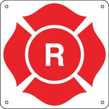 """8.5 X 8.5"""" Aluminum """"R"""" Truss Marking Sign"""