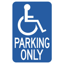 "18 X 12"" Aluminum ""Handicapped Parking"" Sign"