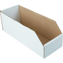 "4-1/2 x 12"" White Cardboard Bin Box 25 Per Package"