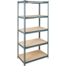 "72 x 36 x 18"" 5-Shelf Industrial-Grade Z-Beam Storage Rack"